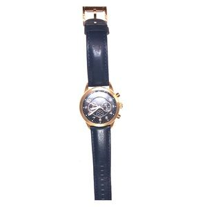 Men navy fossil watch